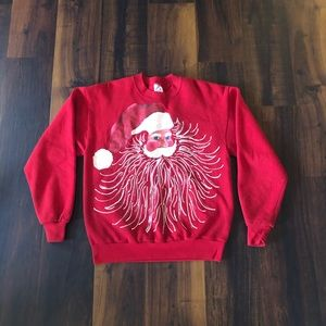 Vintage Santa Clause Ugly Christmas Sweater